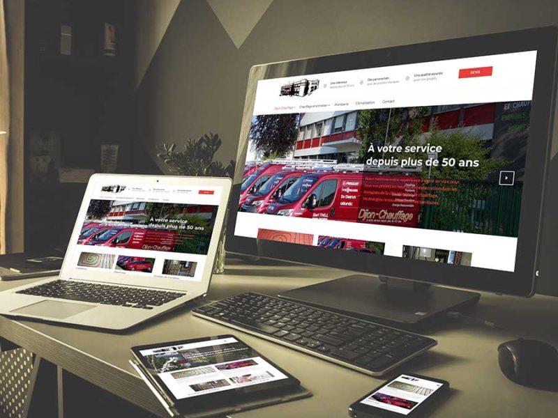 Création du site Internet de Dijon Chauffage